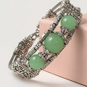 Tribal Silver & Semi- Precious Stone Bracelet